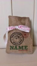 Personalized Made By Santa Small Father Christmas Xmas Santa Sack / Stocking Bag Jute Hessian